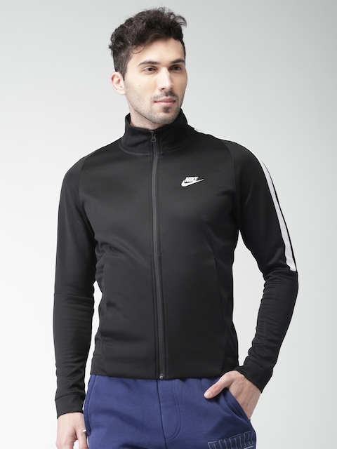 Nike Men Black Solid Sporty AS M NSW N98 JKT PK TRIBUTE Jacket