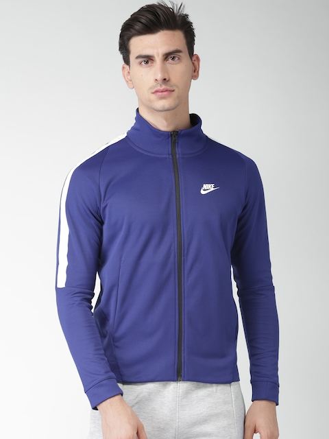 Nike Men Blue Solid Sporty AS M NSW N98 JKT PK TRIBUTE Jacket