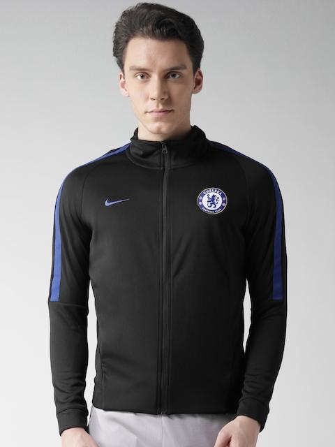 Nike Black AS Chelsea Football Club NSW FRAN AUT Sporty Jacket