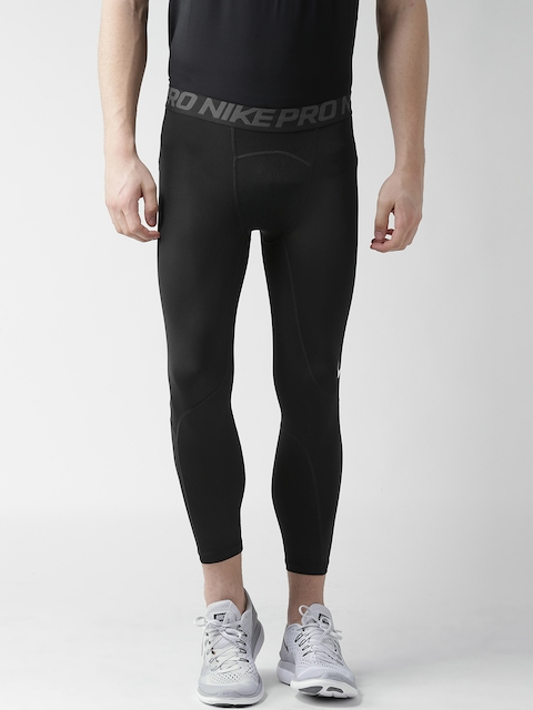 Nike Men Black AS 3QT Solid Training Tights