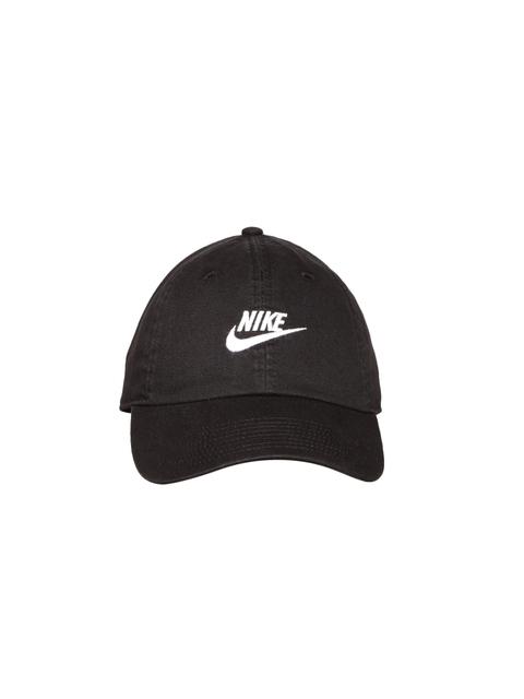 Nike Unisex Black NSW H86 Futura Washed Solid Cap
