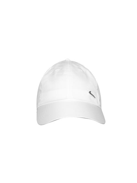 Nike Unisex White NSW H86 Metal Swoosh Baseball Cap