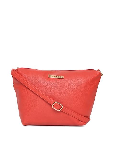 Caprese Red Solid Sling Bag