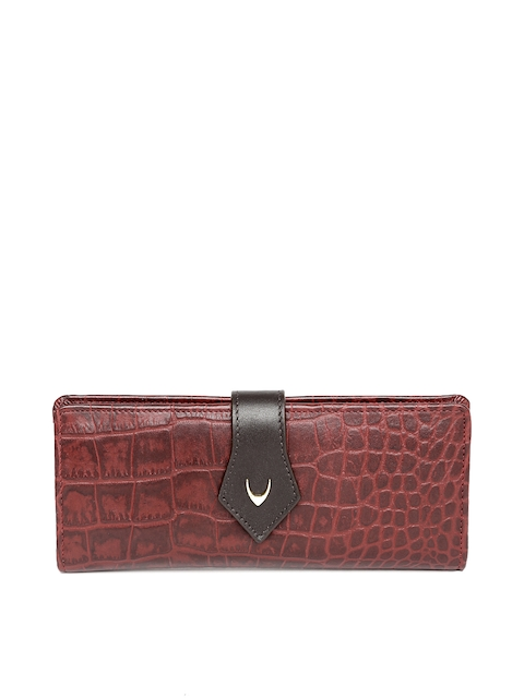 Hidesign Women Maroon Textured Leather Two Fold Wallet