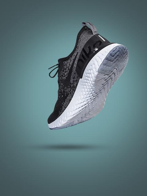 Nike Women Black EPIC REACT FLYKNIT Running Shoes