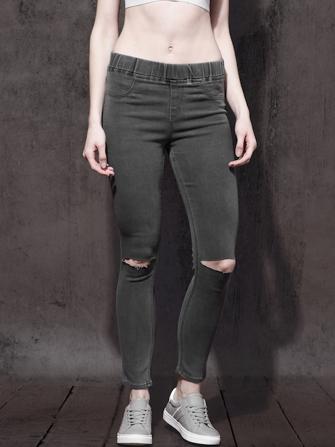 Roadster Women Grey Stretchable Jeggings