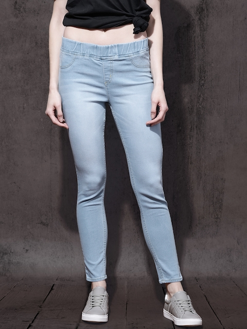 Roadster Women Blue Stretchable Jeggings