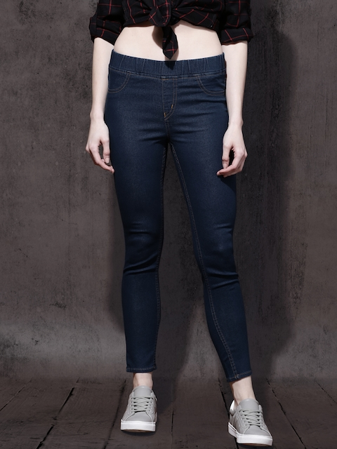 Roadster Women Blue Skinny Fit Stretchable Jeggings