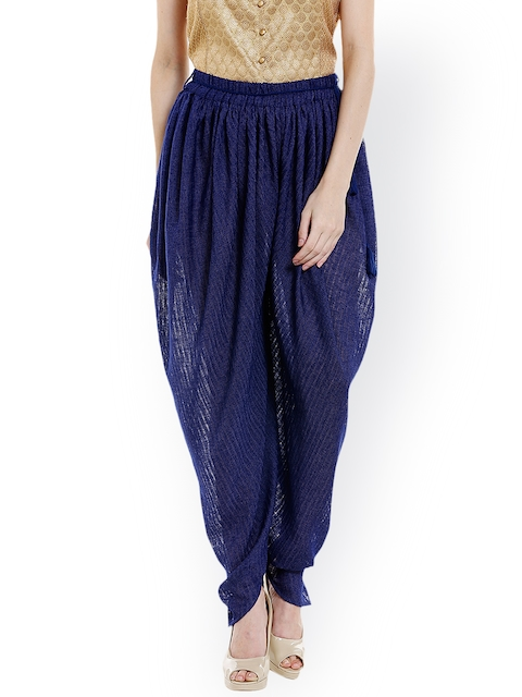 Fusion Beats Women Blue Dhoti