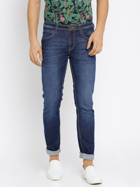 Arrow Blue Jean Co. Men Blue Skinny Fit Mid-Rise Clean Look Stretchable Jeans