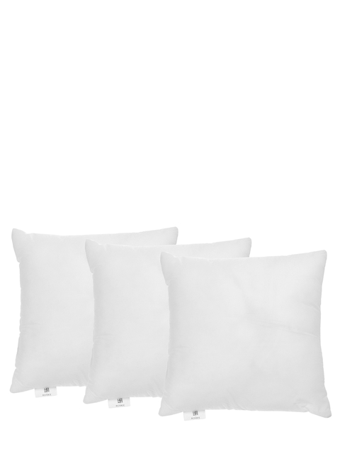 "ROMEE Set of 3 White Single Fibre 16"" x 16"" Square Cushions"