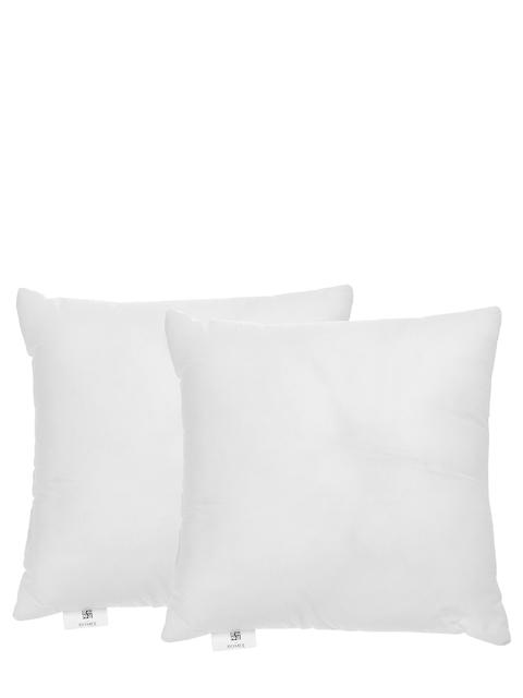 """ROMEE Set of 2 White Single Fibre 16"""" x 16"""" Square Cushions"""