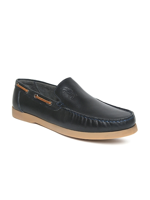 U.S. Polo Assn. Men Navy Blue Leather Loafers