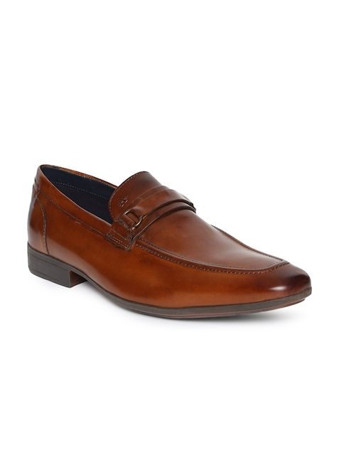 Arrow Men Tan Brown Dayton Leather Formal Slip-on Shoes
