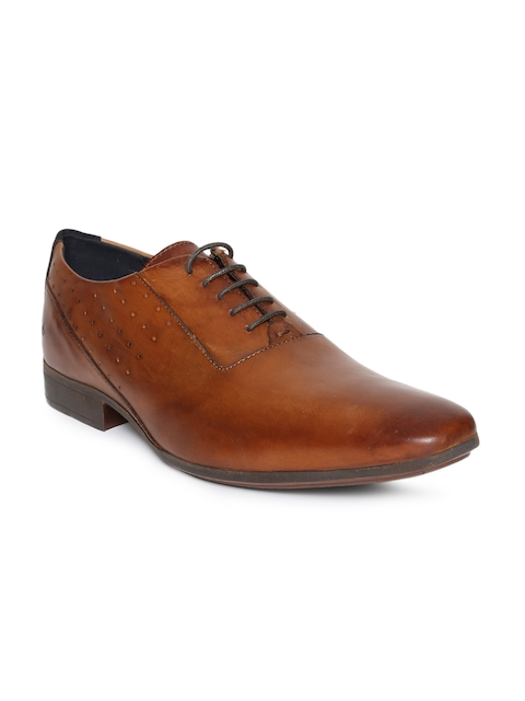 Arrow Men Tan Brown Des Leather Formal Oxfords