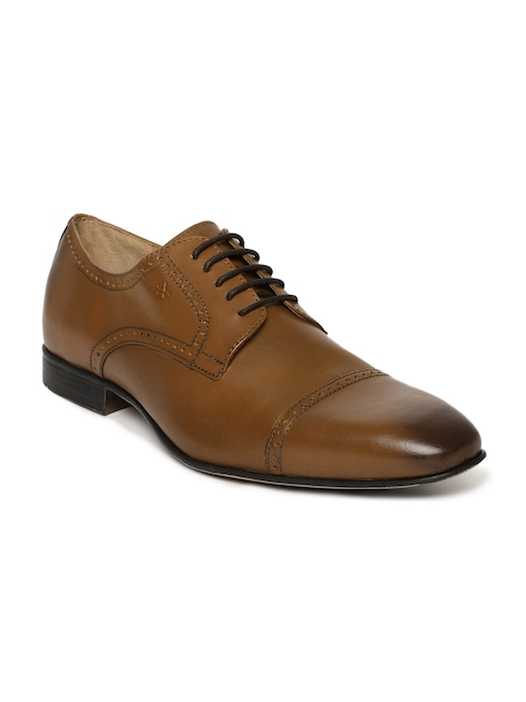 Arrow Men Tan Brown Kelso Leather Brouges