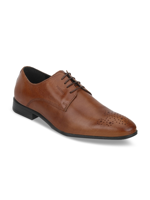 Red Tape Men Tan Leather Formal Shoes