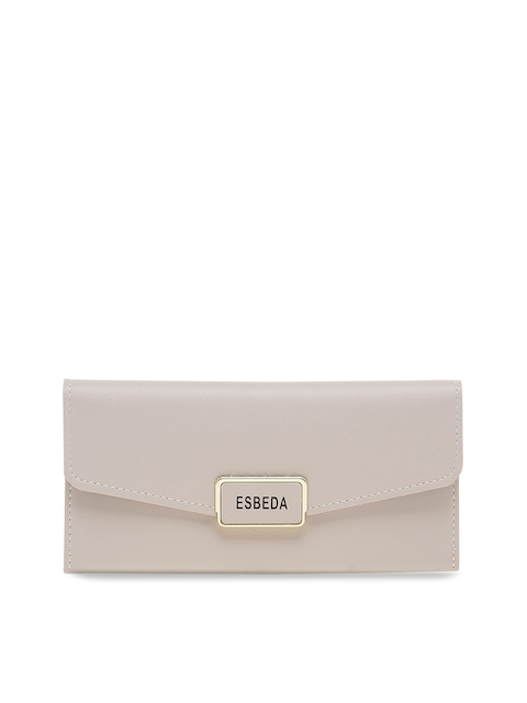 ESBEDA Women Grey Solid Two Fold Wallet