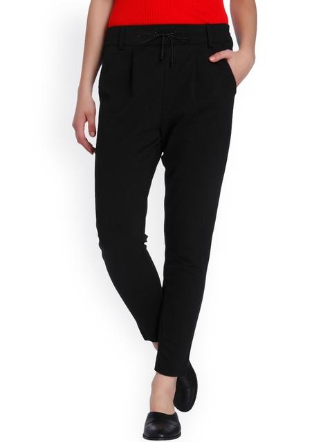 ONLY Women Black Regular Trousers