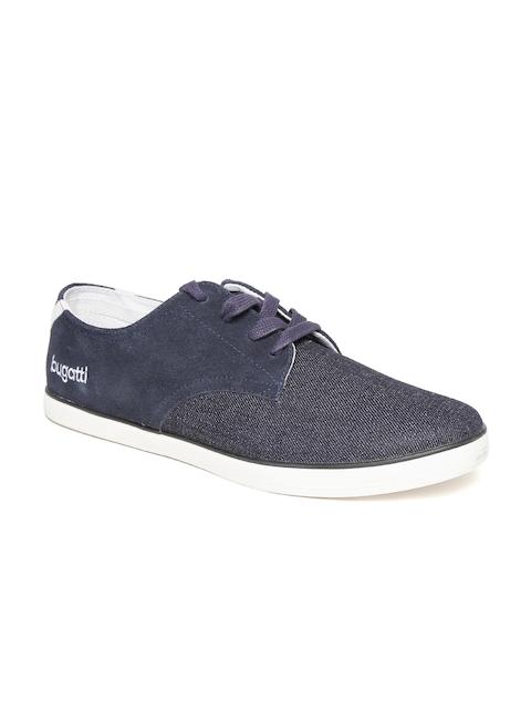 Bugatti Men Navy Blue Suede Sneakers