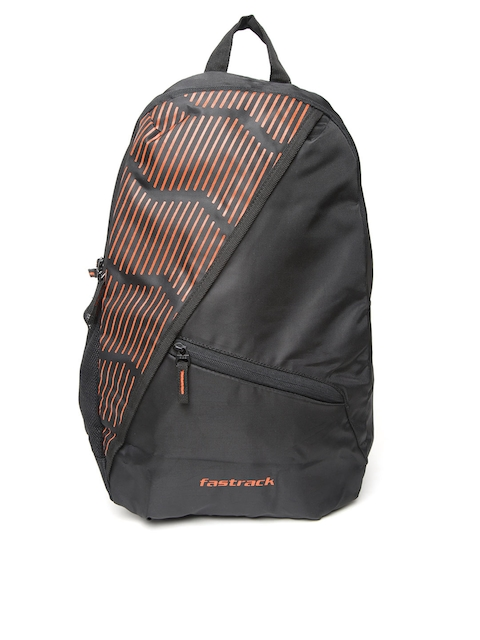 Fastrack Men Black Printed Detail Backpack