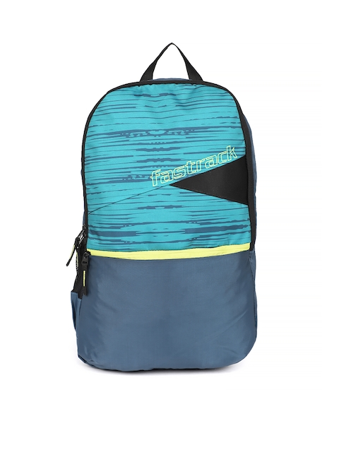Fastrack Men Blue & Green Graphic Backpack