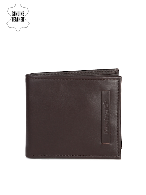 Fastrack Men Brown Solid Two Fold Wallet