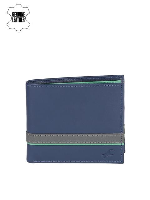 Fastrack Men Blue Solid Two Fold Wallet