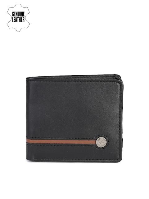 Fastrack Men Black & Brown Genuine Leather Wallet