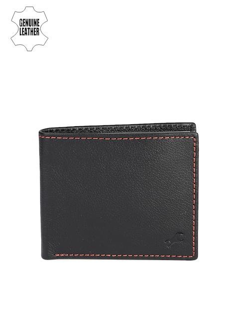 Fastrack Men Black Genuine Leather Wallet