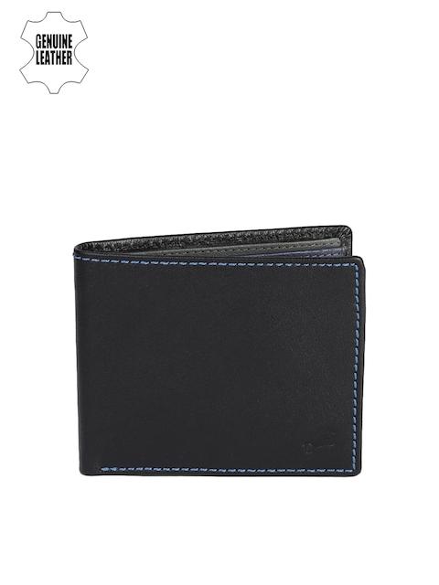 Fastrack Men Black Solid Two Fold Wallet