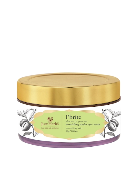Just Herbs Unisex IBrite Almond-Green Tea Nourishing Under Eye Cream 50 g