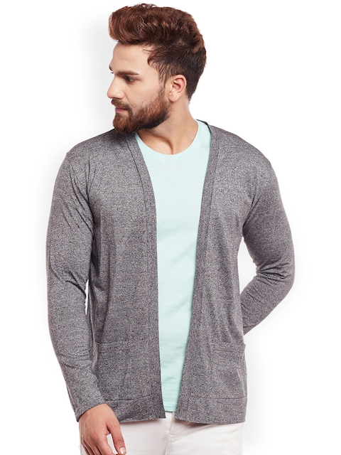 CHILL WINSTON Grey Solid Open Front Shrug