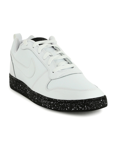 Nike Men White COURT BOROUGH LOW SE Leather Sneakers