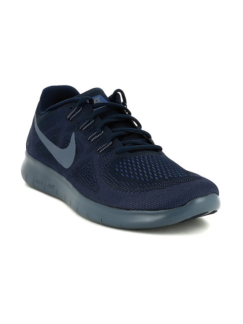 Nike Men Navy Blue FREE RN Running Shoes
