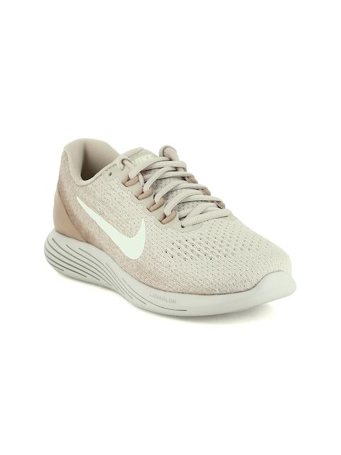Nike Women Beige LUNARGLIDE 9 Running Shoes