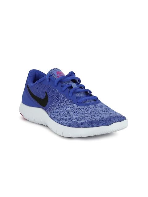 Nike Girls Blue Flex Contact Running Shoes