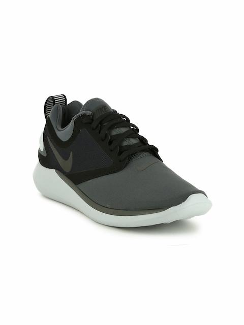 Nike Women Black & Grey LUNARSOLO Running Shoes