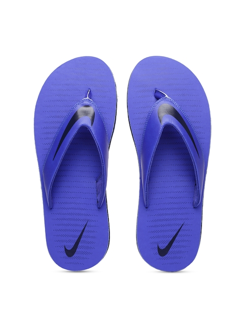 Nike Men Blue CHROMA Solid Thong Flip-Flops