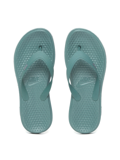 Nike Men Green SOLAY Solid Thong Flip-Flops
