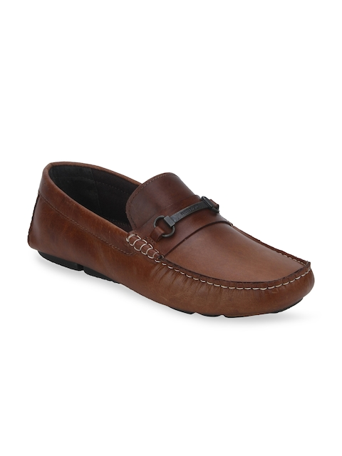 Red Tape Men Tan Driving Shoes