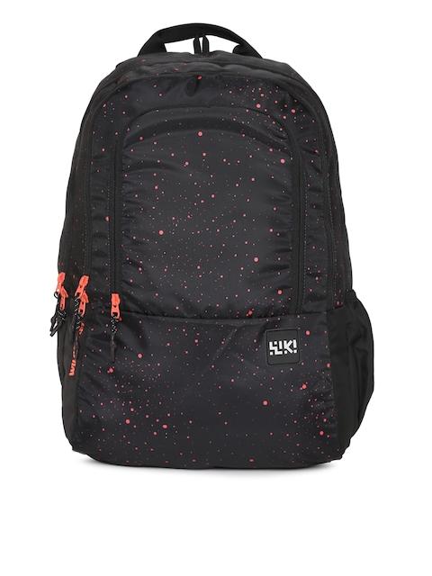 Wildcraft Unisex Black Graphic Backpack