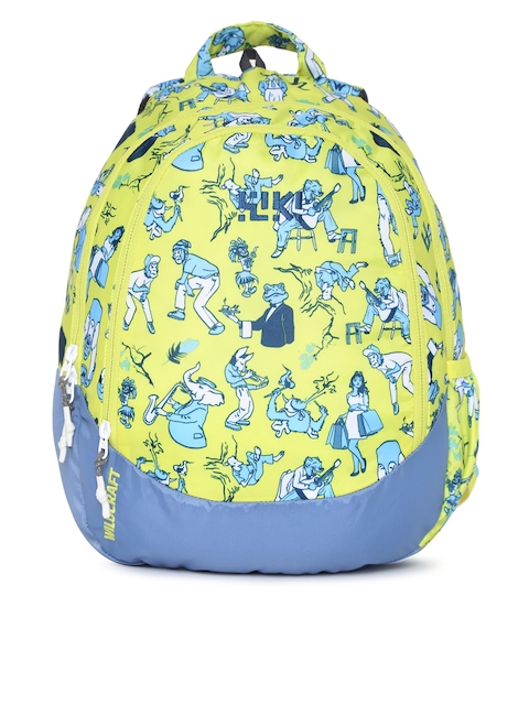 Wildcraft Unisex Green & Blue Wiki J 1 Anthro Graphic Backpack
