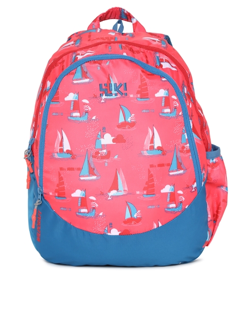 Wildcraft Unisex Red & Blue Wiki J 2 Sailor Graphic Backpack