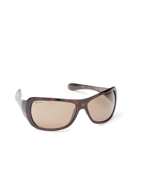 Fastrack Women Brown Rectangle Sunglasses