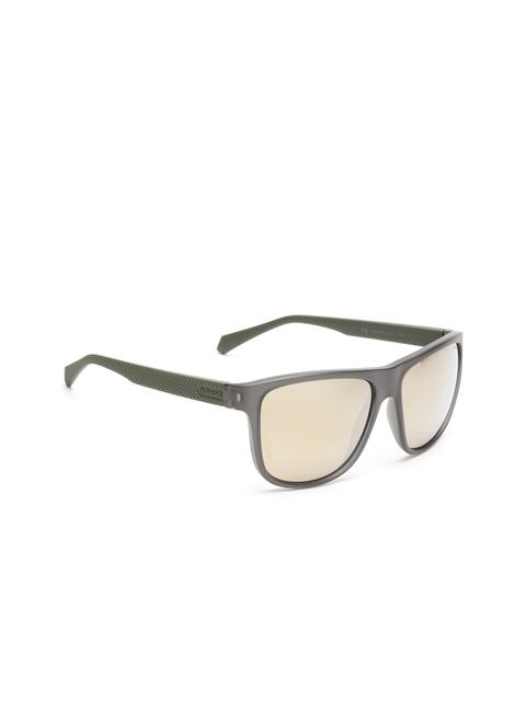 Polaroid Unisex Mirrored Square Sunglasses 2057/S DLD 57LM