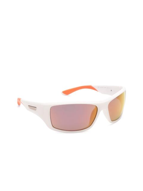 Polaroid Men Mirrored Polarised Rectangle Sunglasses 7013/S IXN 63OZ
