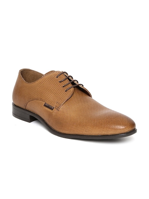 Red Tape Men Tan Leather Brogues