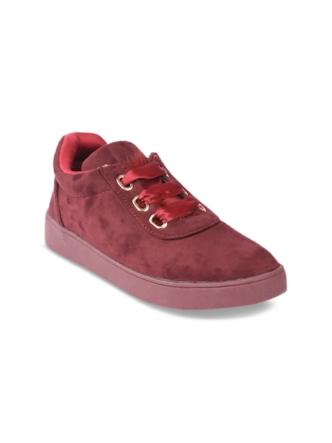 Lovely Chick Women Maroon Flat Boots