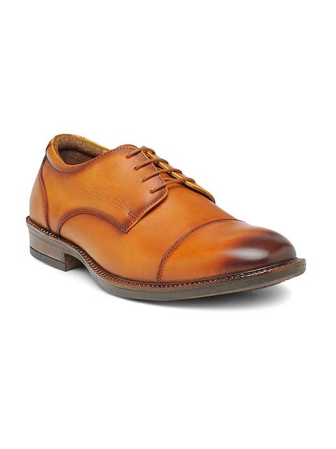 Teakwood Leathers Men Tan Leather Derbys
